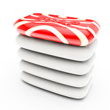 Unique red slice soap Royalty Free Stock Image
