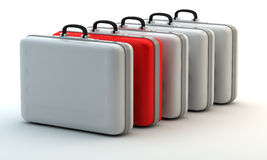 Unique red suitcase Royalty Free Stock Photography