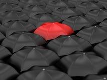 Unique red umbrella Stock Photos