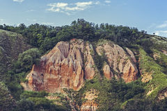 Unique reddish sandstone cliffs Stock Photo