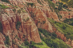 Unique reddish sandstone cliffs Royalty Free Stock Photo