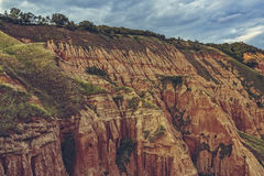 Unique reddish sandstone cliffs Royalty Free Stock Images