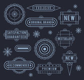 Unique retro labels Stock Images