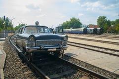 Unique road-rail vehicle Stock Photos