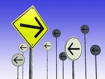 Unique road sign. 3d render of unique road sign Vector Illustration