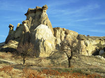 Unique Rock Formations In Cappadocia, Turkey Royalty Free Stock Images