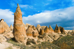 Unique rock formations in Cappadocia Stock Photography