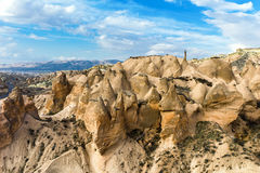 Unique rock formations in Cappadocia Royalty Free Stock Image