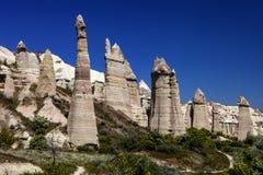 Unique rock formations, Kapadokia and Turkey Royalty Free Stock Image