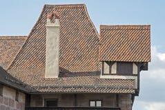 Unique roof architecture in Nuremberg Stock Photo