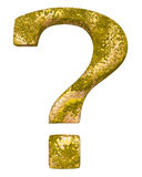 Unique rust question mark Royalty Free Stock Photo