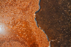 Unique salt lake surface texture Stock Photos