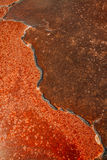 Unique salt lake surface texture Royalty Free Stock Images