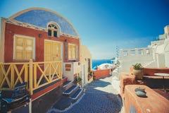 Unique Santorini architecture. Greece Royalty Free Stock Photo