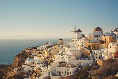 Unique Santorini architecture. Greece Royalty Free Stock Photos