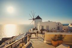 Unique Santorini architecture. Greece Stock Photography