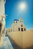 Unique Santorini architecture. Greece Stock Photos