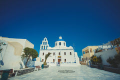 Unique Santorini architecture. Greece Royalty Free Stock Photography