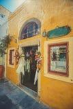 Unique Santorini architecture. Greece Stock Photo