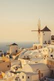 Unique Santorini architecture. Greece Stock Image