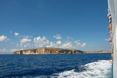 Malta, Gozo Island: Picturesque, scenic landscape of Cliffs. Unique and scenic landscape of Cliffs at the Gozo Island, Malta, from the Gozo ferry Royalty Free Stock Images