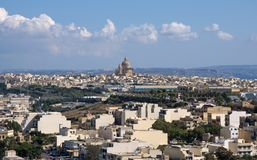 Malta, Gozo Island - Most beautiful landscape of Ir Rabat stock photography