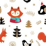 Winter holiday seamles pattern Stock Images