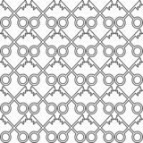 Unique seamless pattern, made from keys stock illustration