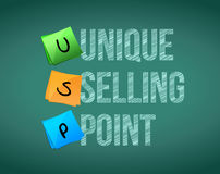 Unique selling point concept illustration design. Over a white background stock illustration