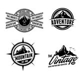 Adventurer & Explorer Logo Badge Set 1 Royalty Free Stock Image