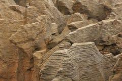 Unique shaped Pancake Rocks Royalty Free Stock Photography