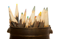 Unique Sharp  Pencils Royalty Free Stock Photography
