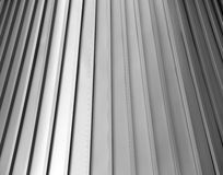 Unique, shiny tin, aluminum roof Royalty Free Stock Image