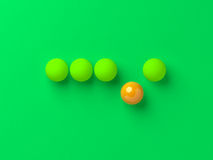 Unique single orange ball. Royalty Free Stock Photos