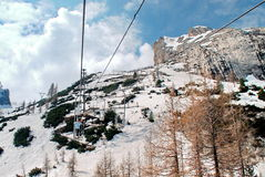 Unique ski lift Royalty Free Stock Image