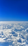 Unique Sky Deep blue firmament with thick clouds Royalty Free Stock Photos