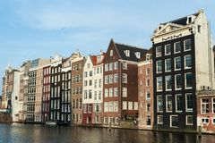 Houses at the Amsterdam City Center, The Netherlands stock photos