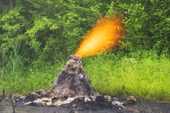 Unique small volcano Stock Image