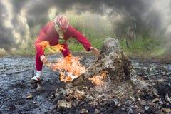Unique small volcano Stock Photos