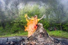 Unique small volcano Royalty Free Stock Photos