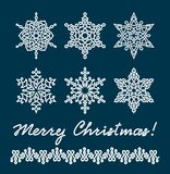 Unique snowflakes Stock Photo