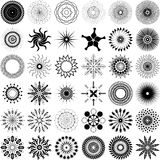 Unique Spiral Design Element Set. A set of 36 unique, intricate spiral design elements in format vector illustration