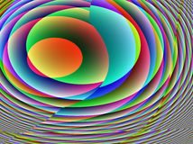 Unique Spirals Multicolored Royalty Free Stock Photos