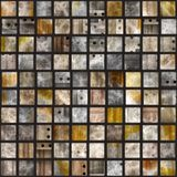 Unique square tiles Stock Photo