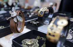 Unique steampunk jewelries Royalty Free Stock Images