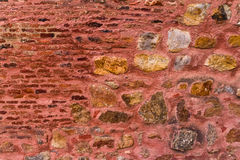 Unique stone wall of the Red Fort Royalty Free Stock Photos