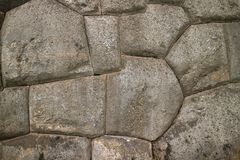 Unique Stonework of the Ancient Inca Walls of Sacsayhuaman Citadel, UNESCO World Heritage Site in Cusco, Peru. South America, Texture background abstract royalty free stock images