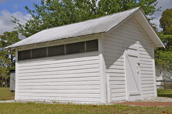 Unique storage shed Stock Images