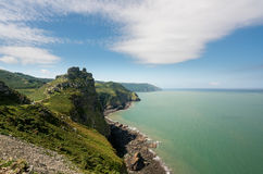 Unique Structure Of The Valley Of The Rocks Near Lynmouth, Devon Stock Photo