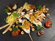 Unique - style asiatique de poissons plats images stock